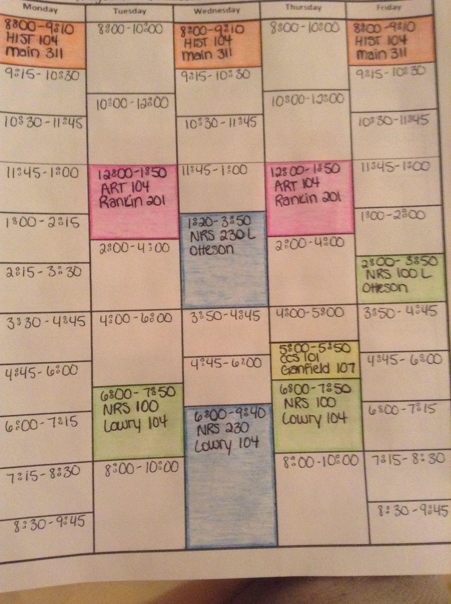 College Class Schedule Planner Fresh College organizer Planner – Free Printable Links