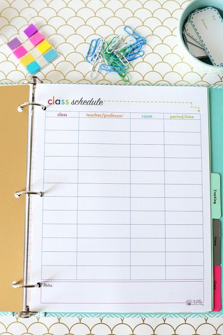 College Class Schedule Planner Lovely 23 Of the Best organization Printables Printable Crush
