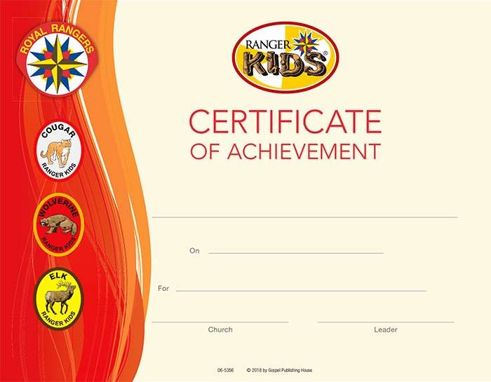College Signing Day Certificate Template New Ranger Kids Certificate Of Achievement