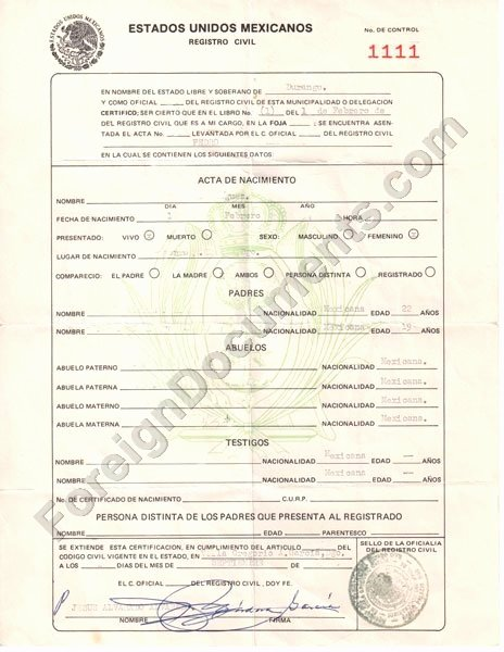 Colombian Birth Certificate Translation Template New How to Translate A Mexican Birth Certificate to English