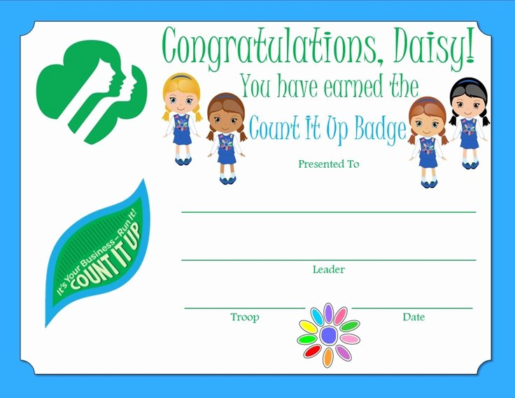 Combat Action Badge Certificate Template Best Of 17 Best Images About Girl Scout Daisy Certificates On