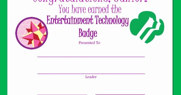 Combat Action Badge Certificate Template Lovely Junior Entertainment Technology Badge Certificate