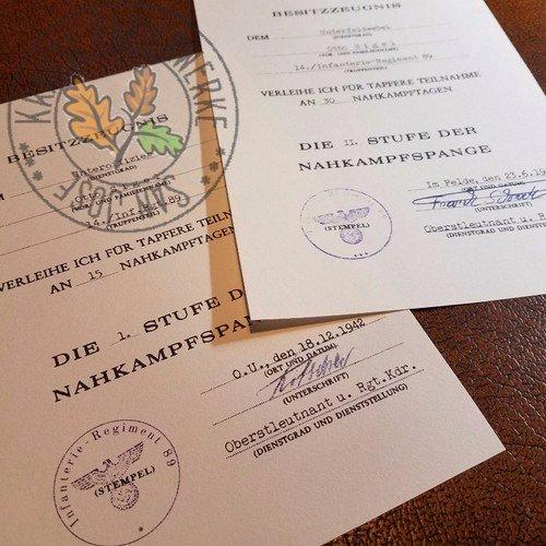 Combat Action Badge Certificate Template Lovely Wehrmacht Close Bat Clasp Nahkampfspange Document
