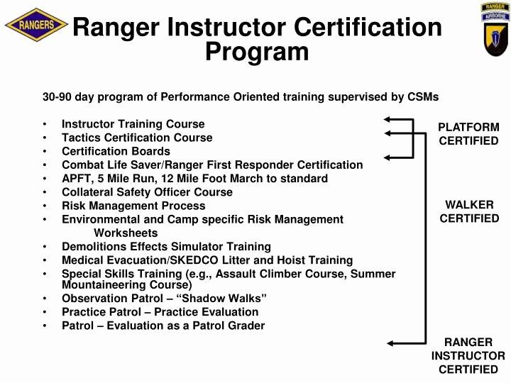 Combat Lifesaver Certificate Template Unique Ppt U S Army Ranger School Powerpoint Presentation Id