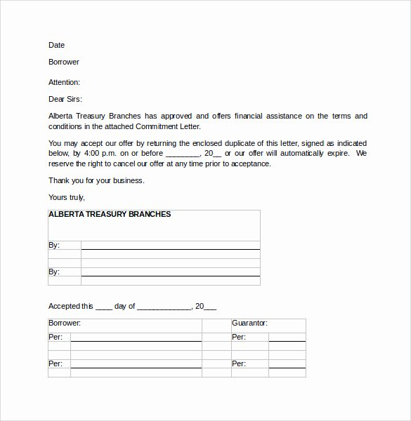 Commitment Letter for Job Fresh 25 Of Mortgage Mitment Letter Template