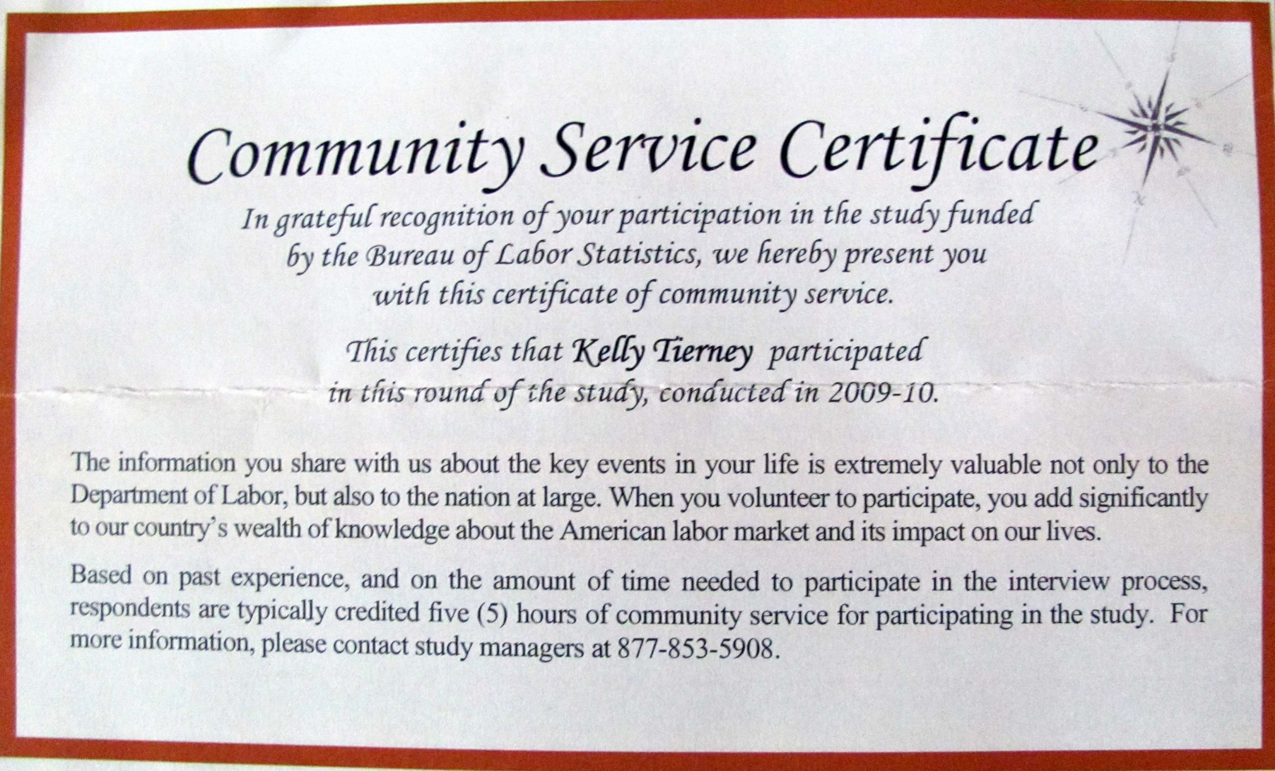 Community Service Award Template Elegant Sample Certificate Recognition for Munity Service
