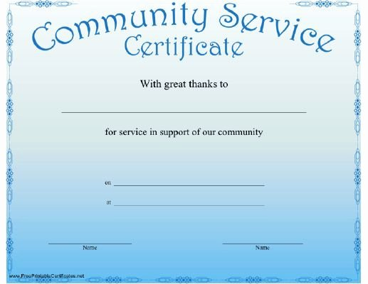 Community Service Certificate Template Best Of 11 Best Certificates Of Appreciation for Teacher S Images