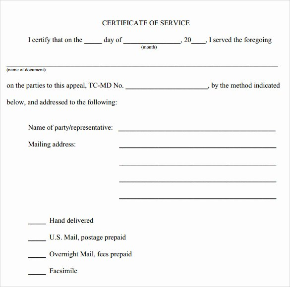Community Service Certificate Template New 10 Certificate Of Service Templates to Download for Free