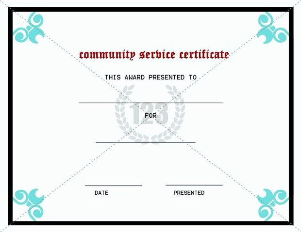 Community Service Hours Certificate Template Awesome Best Munity Service Certificate Template