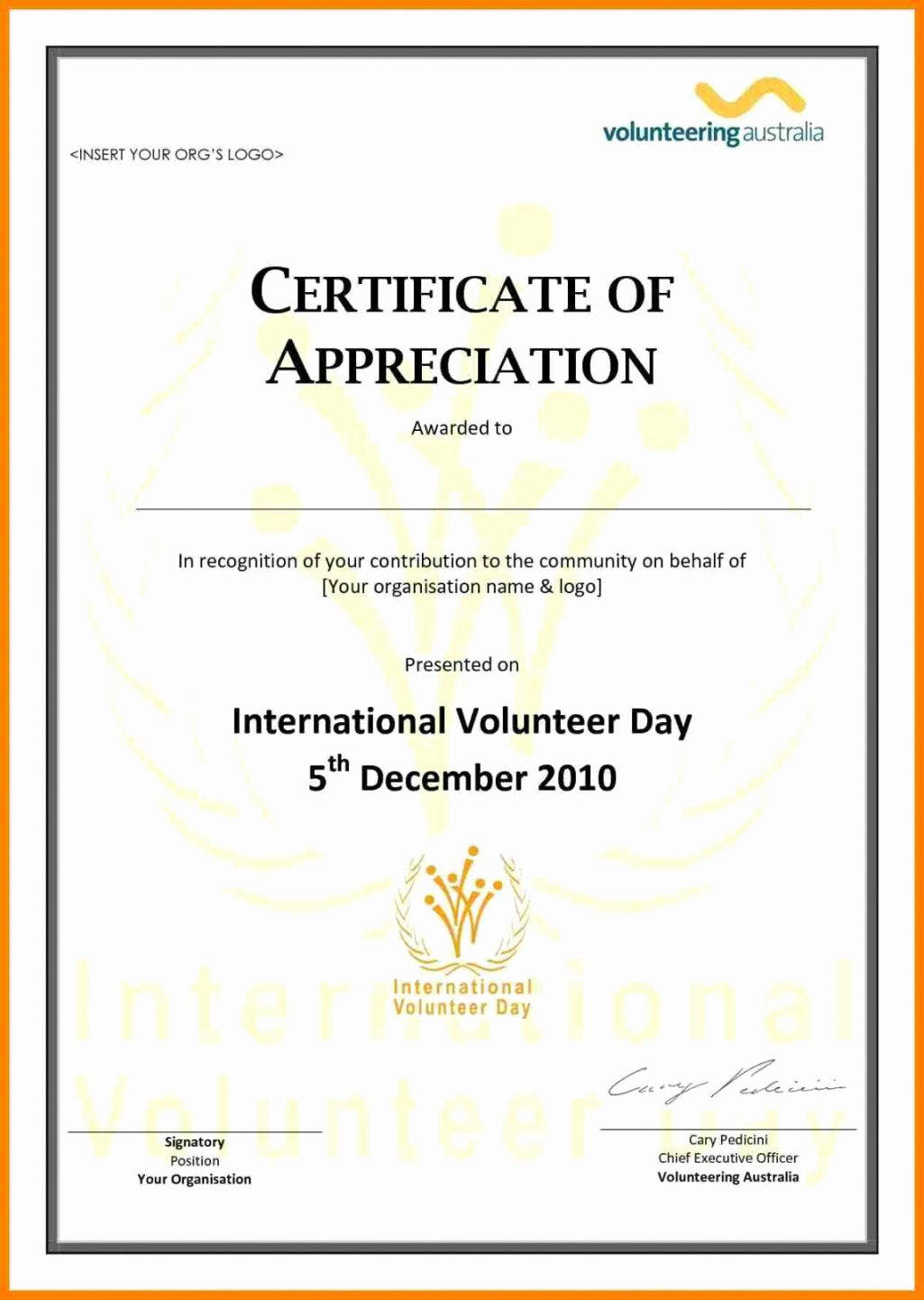 Community Service Hours Certificate Template Luxury Free Munity Service Certificate Template Emetonlineblog