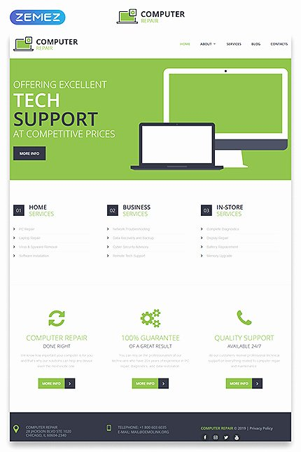 Computer Repair Price List Template Inspirational Download Templatemonster Puter Repair Discount