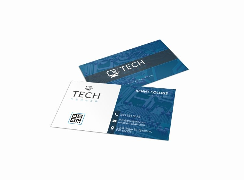 Computer Repair Price List Template Luxury Blue Puter Repair Business Card Template