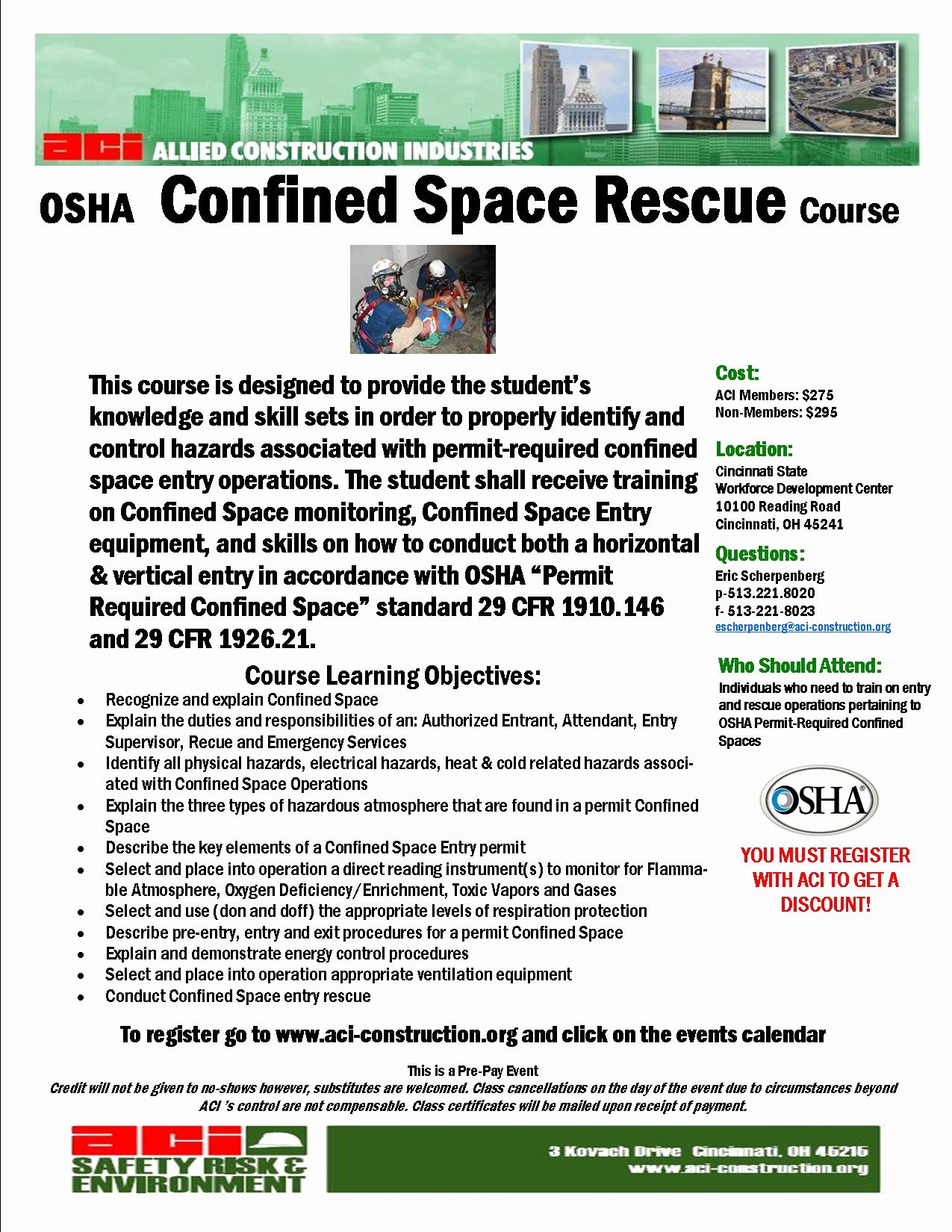 Confined Space Certificate Template Beautiful Rescue Plan Confined Space Example