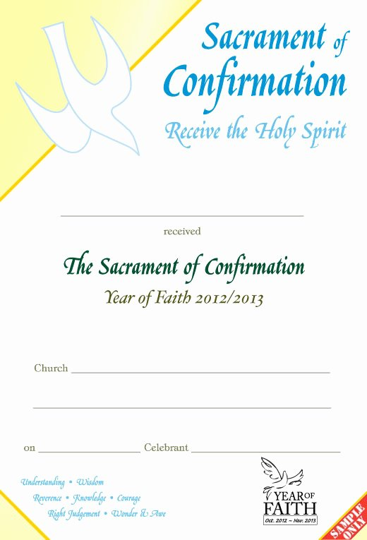 Confirmation Certificate Template Catholic Best Of Family Confirmation Certificate formate Cover Letter