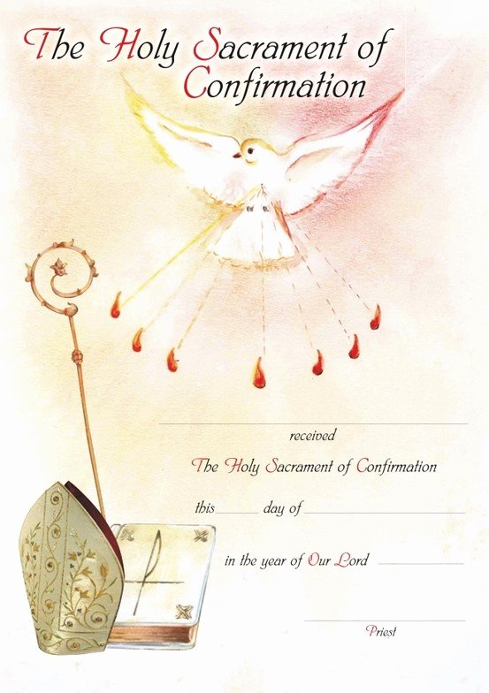 Confirmation Certificate Template Catholic Fresh Confirmation Certificate Designed by Zelda Francis Water