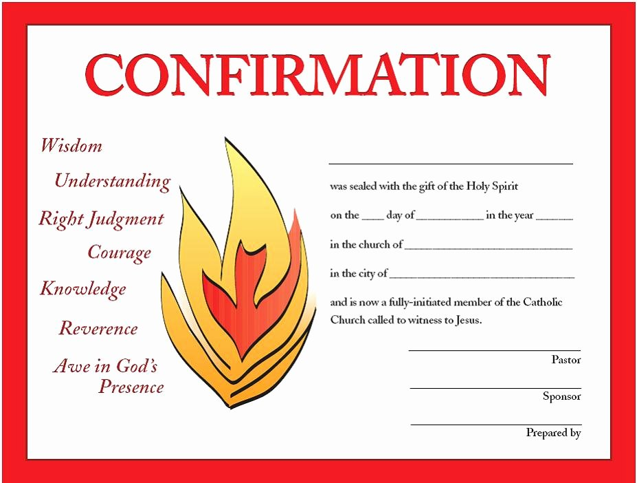 Confirmation Certificate Template Catholic Fresh Confirmation Certificates – Good Ground Press