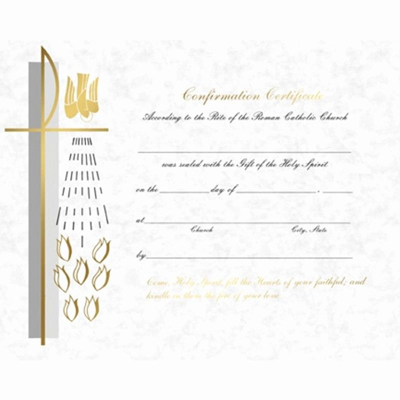 Confirmation Certificate Template Catholic Luxury Clean Modern General Layout Confirmation