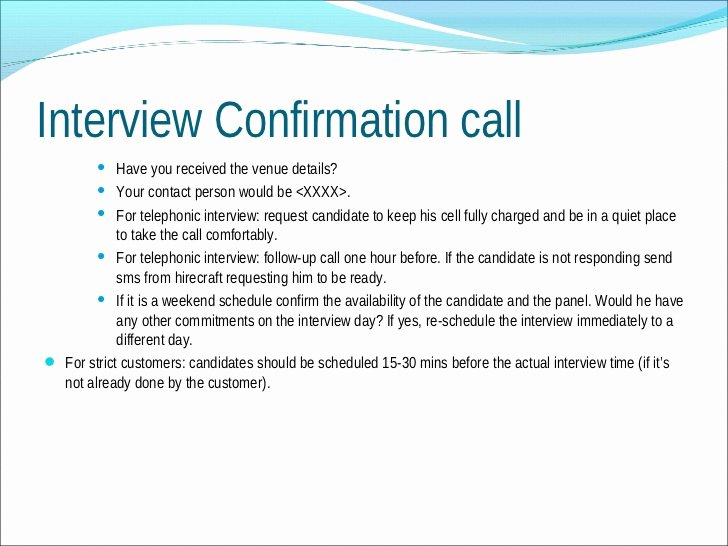 Confirming Interview Email Sample Beautiful Understanding Candidates for Better Recruitment