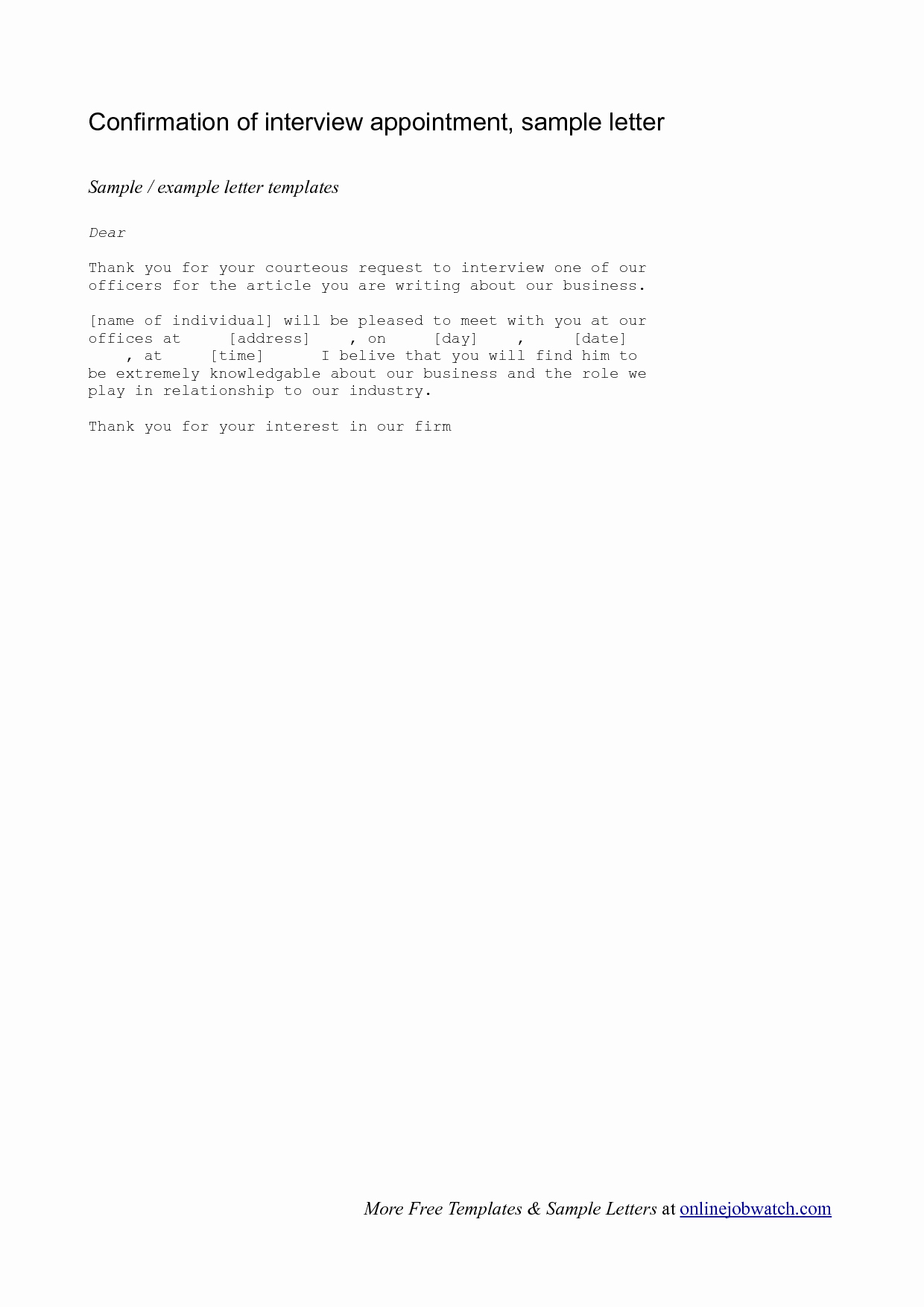 Confirming Interview Email Sample Luxury Best S Of Interview Confirmation Letter Reply Job