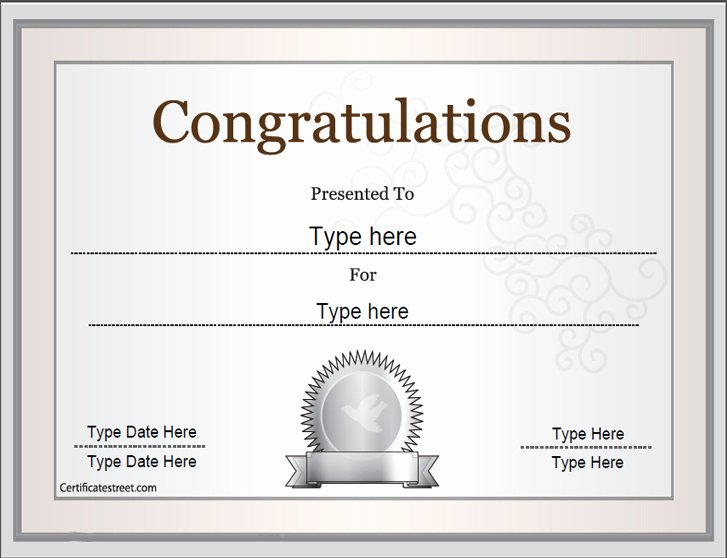 Congratulation Certificate Template Word Awesome 9 Printable Award Certificates