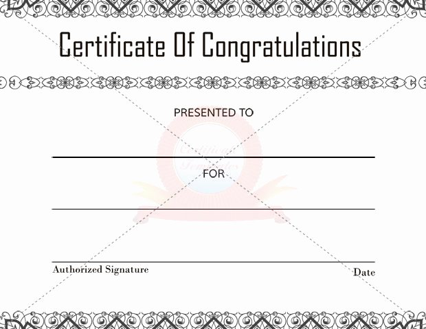 Congratulation Certificate Template Word Best Of Congratulation Certificate Templates