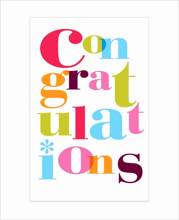 Congratulation Certificate Template Word Fresh Congratulations Card Template 20 Free Sample Example
