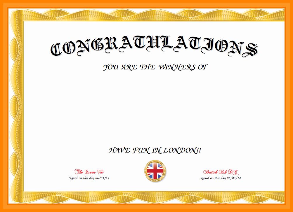 Congratulation Certificate Template Word Lovely Congratulations Template Word – Guatemalago