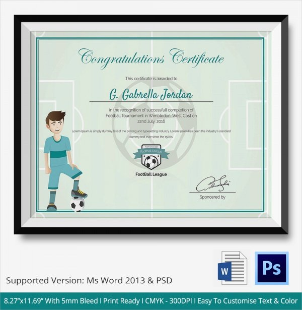 Congratulation Certificate Template Word New Free 20 Sample Congratulations Certificate In Pdf