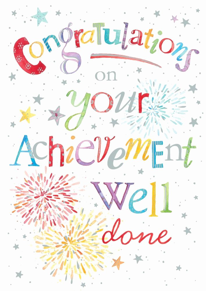 Congratulations Images for Achievement Fresh Details About Congratulations Well Done Hand Finished Card