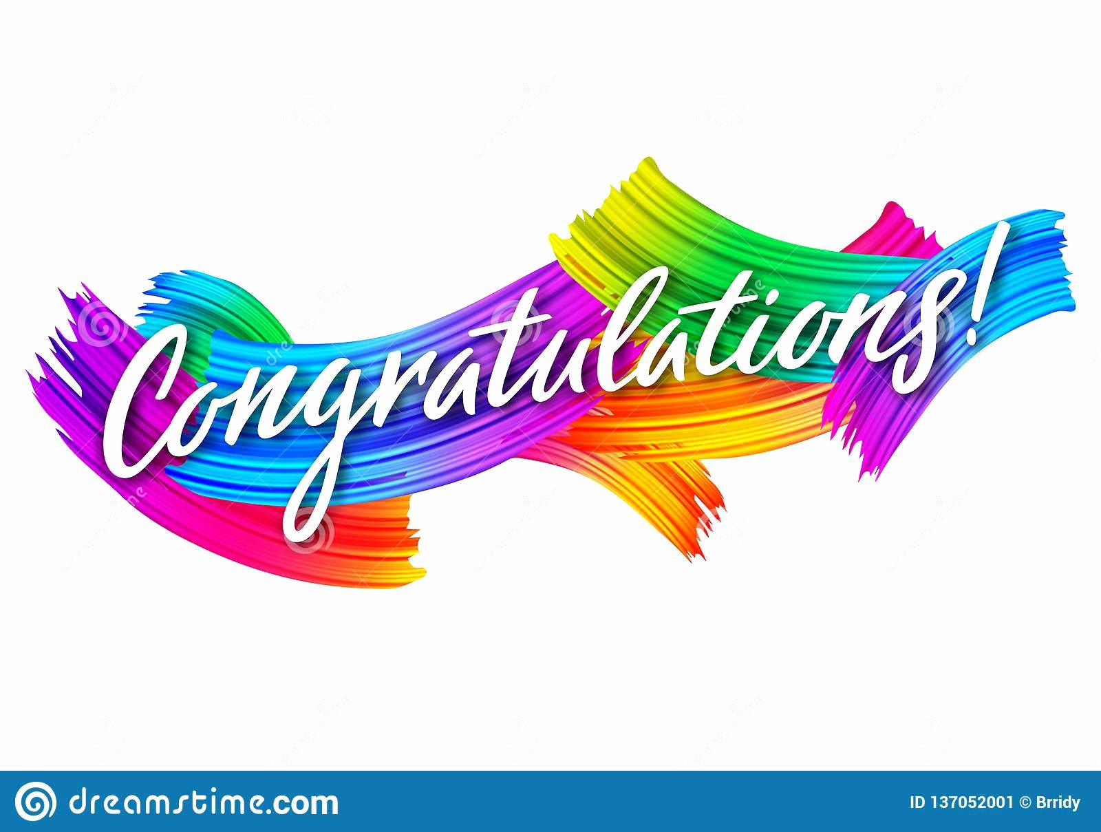 Congratulations Images for Achievement Inspirational Congratulations Banner with Colorful Paint Brush Strokes