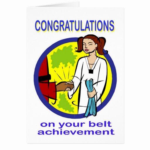 Congratulations Images for Achievement New Congratulations Belt Achievement Card
