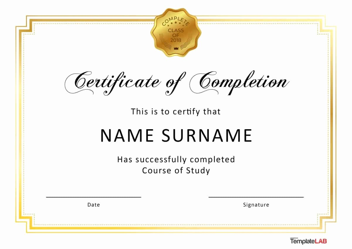 Construction Certificate Of Completion Template Best Of 40 Fantastic Certificate Of Pletion Templates [word