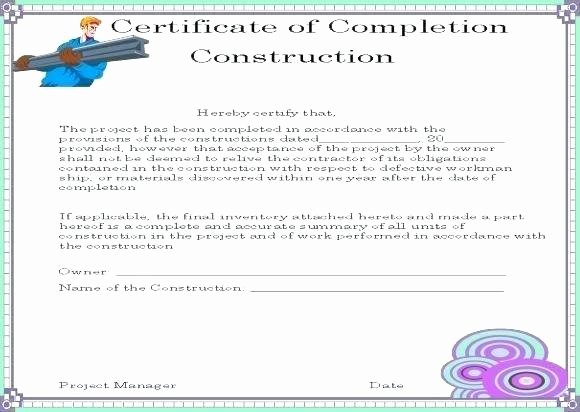 Construction Completion Certificate Template Elegant Construction Warranty form Template – Elisabethnewton