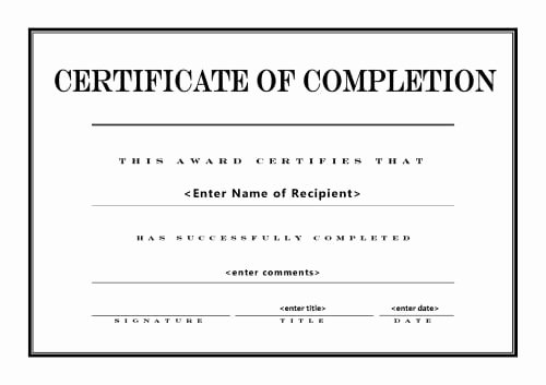 Construction Completion Certificate Template Lovely 10 Certificate Of Pletion Templates Word Excel Pdf