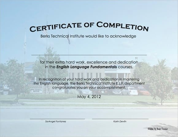 Construction Completion Certificate Template Unique 7 Free Certificate Of Pletion Templated Excel Pdf formats