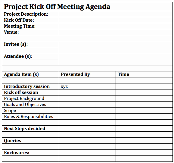 Construction Project Meeting Minutes Template New How to Successfully Lead A Project Kickoff Meeting