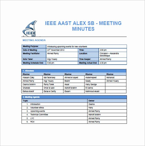 Construction Project Meeting Minutes Template Unique Project Meeting Minutes Template 12 Sample Word Apple