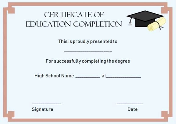 education certificate continuing