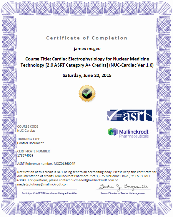 Continuing Education Certificate Template Fresh Nuclear Medicine Continuing Education Cnmts 36 5 Hrs Free