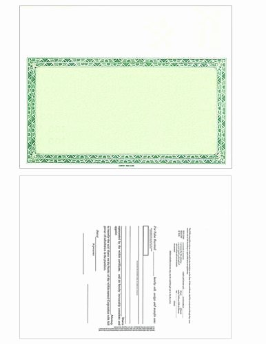 Corpkit Stock Certificate Template Beautiful Corporate Kit