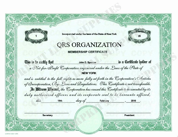 Corpkit Stock Certificate Template Beautiful Stock Certificates Standard Wording Stock Certificates