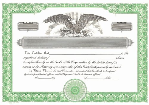 Corpkit Stock Certificate Template Best Of Blank Stock Certificates Free Printable Documents