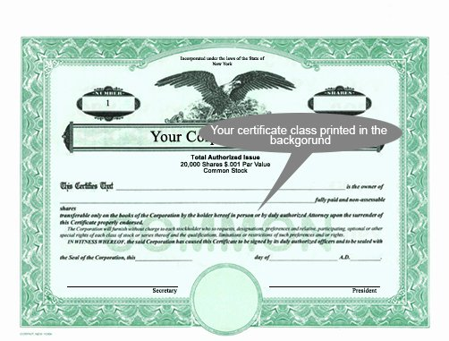 Corpkit Stock Certificate Template Fresh Corporate Focus Certificates From Corpkit Legal Supplies
