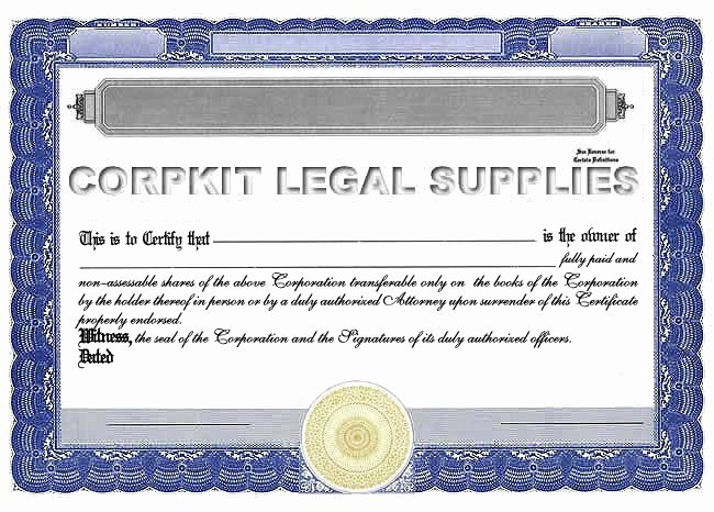 Corpkit Stock Certificate Template Fresh Standard Wording Stock Certificates