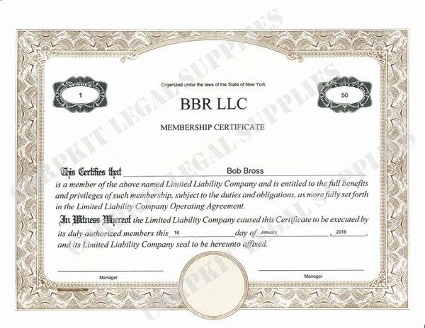 Corpkit Stock Certificate Template Luxury Standard Wording Stock Certificates