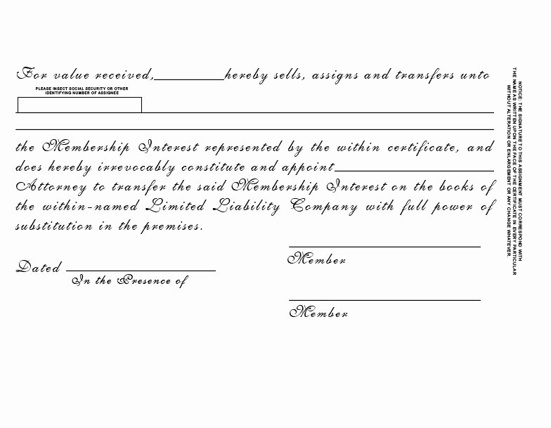 Corpkit Stock Certificate Template Luxury Stock Certificate Standard Wording