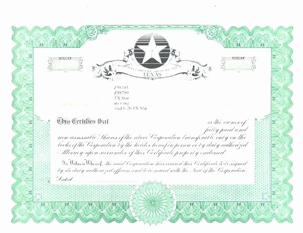 Corporate Bond Certificate Template Fresh Blank Stock Certificate Template – Gdwebapp