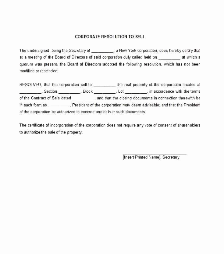 Corporate Secretary Certificate Template Fresh 37 Printable Corporate Resolution forms Template Lab