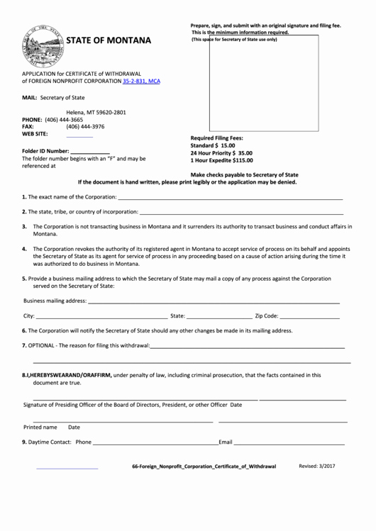 Corporate Secretary Certificate Template Fresh Fillable Application for Certificate withdrawal