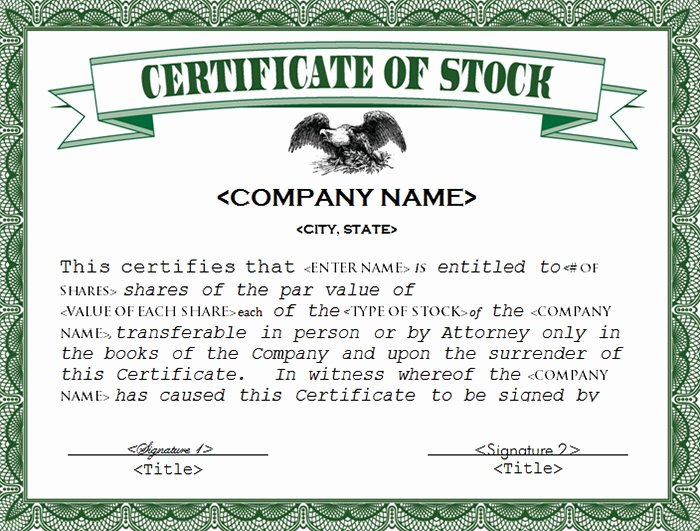 Corporate Stock Certificate Template Word Awesome 22 Stock Certificate Templates Word Psd Ai Publisher